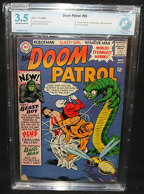 Doom Patrol #99 - 1st App of Beast Boy, Later Changeling - CBCS Grade 3.5 - 1965