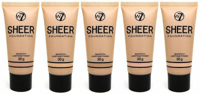 W7 Sheer Coverage Foundation - Choose From 5 - Flawless Liquid