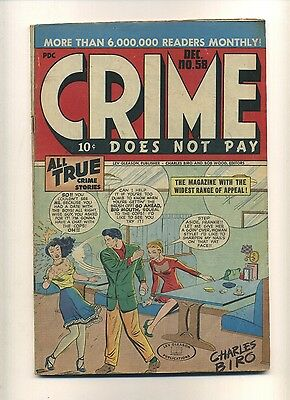Crime Does Not Pay 58 (FRG) 1947 Lev Gleason Guardineer Tuska Biro (c#09885)