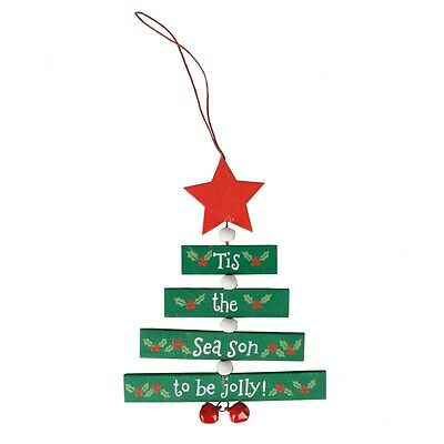 Sass & Belle Christmas Wishes Hanging Tree In Green Decoration Christmas Xmas