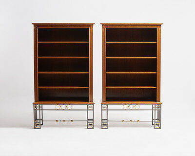 Maison Leleu, Pair of Bookcases, France, 1963