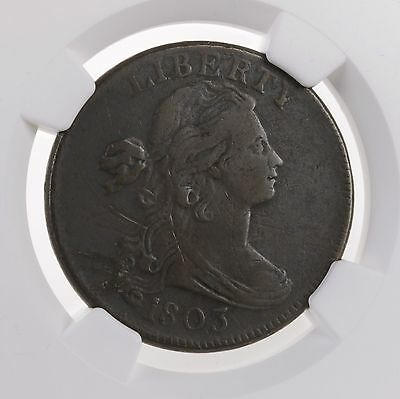 1803 Draped Bust 1C SM DATE SM FRAC S-250 NGC VF Details US Copper Large Cent