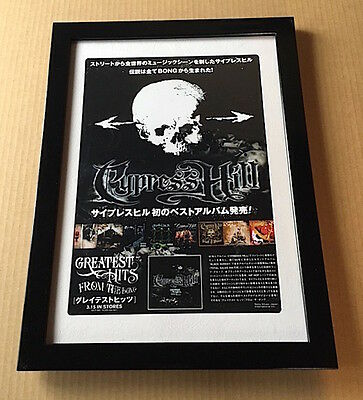 2006 Cypress Hill Greatest Hits JAPAN album promo mini poster ad FRAMED c04r