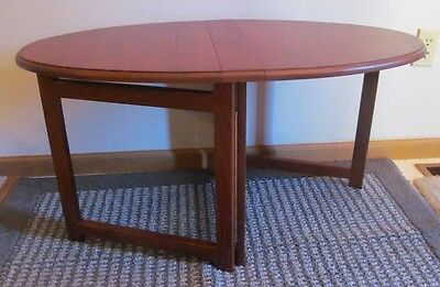 Compact FOLDING END & COFFEE TABLE Ash Hardwood Stain Cherry RV Boat Home USA