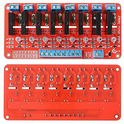 XCSOURCE® 8 Channel 5V Solid State Relay Module Board SSR G3MB-202P 250V 2A