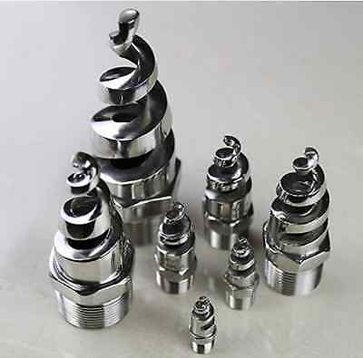 1pcs New Stainless steel spiral Cone spray nozzle