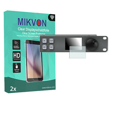2x Mikvon Clear Screen Protector for Blackmagic Videohub Master Control