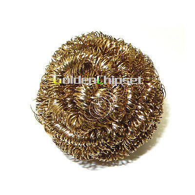 3pcs Brand New Soldering Solder Iron Tip Cleaner Brass Cleaning Wire Sponge Ball
