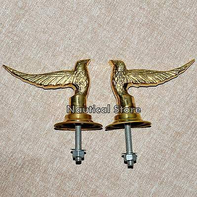 Splendid Pair Egle Vintage Heavy Brass Lever Door Handles