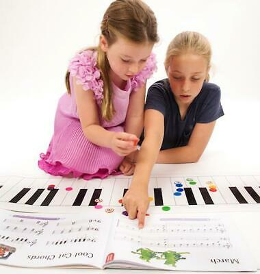 Music Teacher Large Keyboard Mat & Note Counters 1.35M x 2.95M Piano Gift Xmas