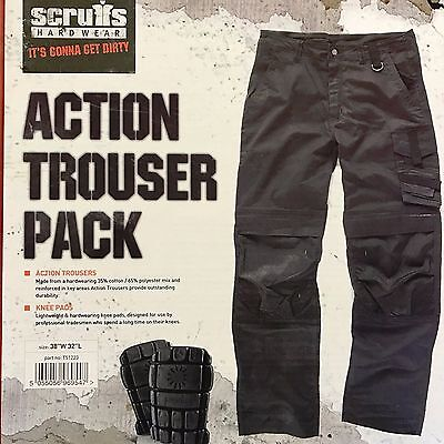 Scruffs Work Trousers cargo style Knee Pads Included