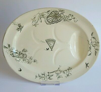 Antique George Jones & Sons Nebo Serving Dish Platter Charger 19th century