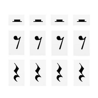 Music Teacher Aid  Extra Symbol Set - 'Music Rests' 12 in Pack for Floor Mat