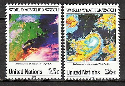 United Nations New York 1989 Weather Watch MNH