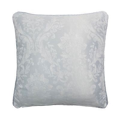 """Woven Damask Rope Trim Silver Blue Grey 17"""" - 43Cm Cushion Cover"""