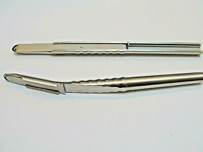 BONE SCAPERS dental implantology instrument 1 straight and 1  curved