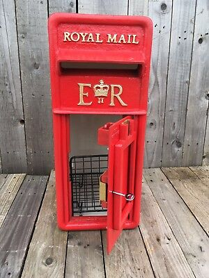 British Royal Mail ERII Cast Iron Post box Front post office box facia