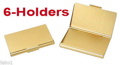 TZ Case Business card Holder All metal Pocket size 6 - Gold ANC002G