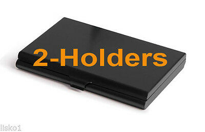 TZ Case Business card Holder with Mirror All metal Pocket size 2-Black ANC004B