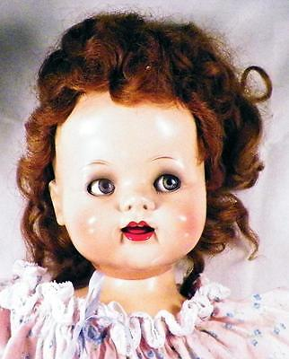 Saucy Walker Doll Ideal 22in Hard Plastic Vintage Great Coloring Auburn Hair