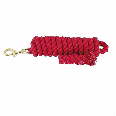 HILASON WESTERN RED 5/8 inch x 10 Feet TIGHT TWISTED COTTON HORSE LEAD ROPE