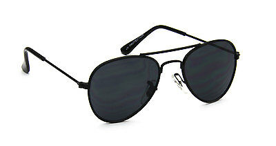 Toddler Aviator Sunglasses Black Vintage Retro Designer Fashion