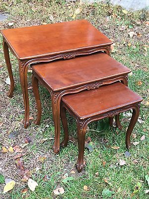 HIGH END Set of  3 French-Style Nesting Tables Louis XV Style NEST OF TABLES