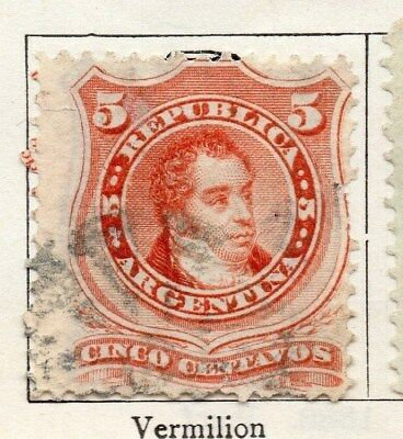 Argentina 1867 Early Issue Fine Used 5c. 096449
