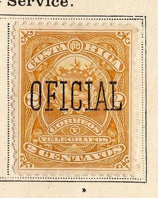 Costa Rica 1892 Early Issue Fine Used 2c. Optd 096026