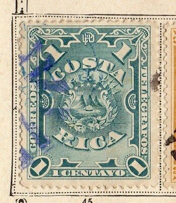Costa Rica 1892 Early Issue Fine Used 1c. 096027