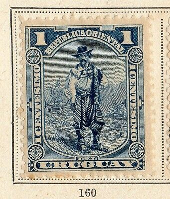 Uruguay 1897 Early Issue Fine Mint Hinged 1c. 096037
