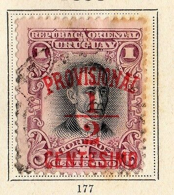 Uruguay 1898 Early Issue Fine Used 1/2c. Surcharges 096045