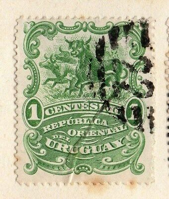 Uruguay 1899 Early Issue Fine Used 1c. 096056