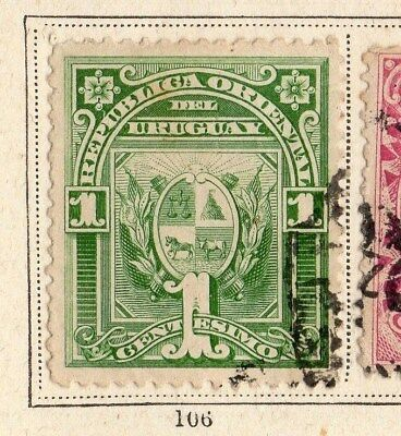 Uruguay 1890 Early Issue Fine Used 1c. 096087