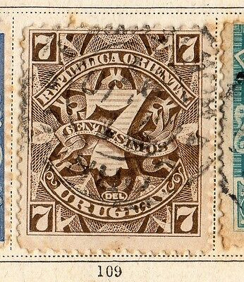 Uruguay 1890 Early Issue Fine Used 7c. 096090