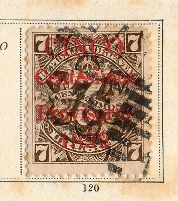 Uruguay 1891-92 Early Issue Fine Used 7c. Optd 096094