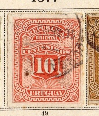 Uruguay 1877 Early Issue Fine Used 10c. 096102