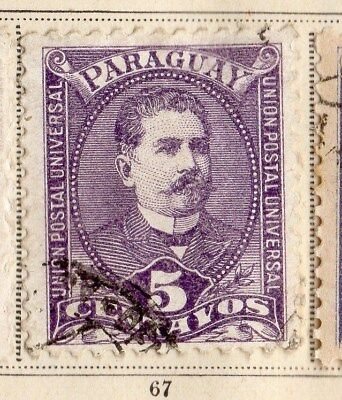 Paraguay 1892 Early Issue Fine Used 5c.  096195