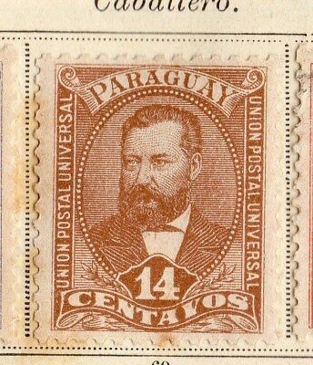 Paraguay 1892 Early Issue Fine Mint Hinged 14c.  096197
