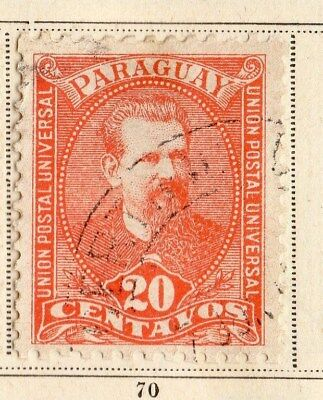 Paraguay 1892 Early Issue Fine Used 20c.  096198