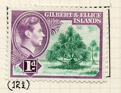 Gilbert & Ellice Islands 1939-45 Issue Fine Mint Hinged 1d. Perf in Scan 096234