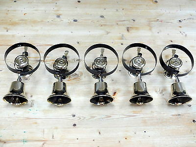 """set Of 5 Servants Bells Butler Maid"" Door Knobs Handles Victorian Lock Brass"