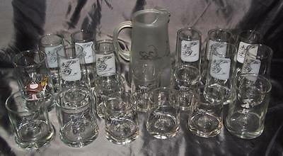 Vintage Jonny Hart B.C. Ice Age Collection Zot Glasses Pitcher