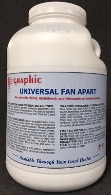 Fan Apart Glue For Carbonless Papers New 1 Gallon