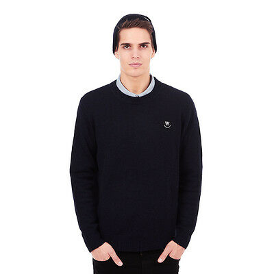 Wood Wood - Yale Sweater Dark Navy Pullover Rundhals