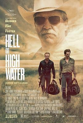 Hell Or High Water Movie Poster Film A4 A3 Art Print Cinema