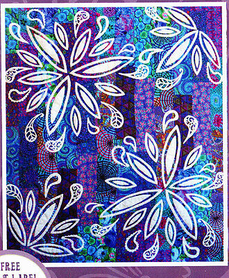 My Paisley Flower Quilt - applique & pieced quilt PATTERN - Passionately Sewn