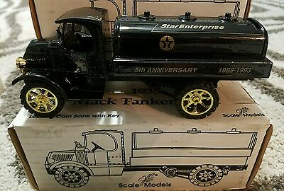 Texaco Star Enterprise 5Th Anniversary 1935 Die Cast Mack Tanker Bank Usa Made