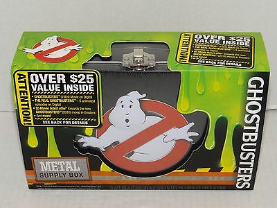New GHOSTBUSTERS Movie Metal Back to School Supply Pencil Pen Box Collector Case