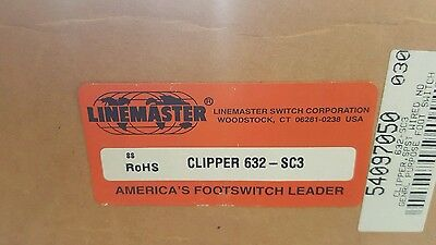 LINEMASTER 632-SC3 Gnrl Prps Foot Swtch,Momentary Action